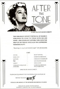 After The Tone poster and cast new